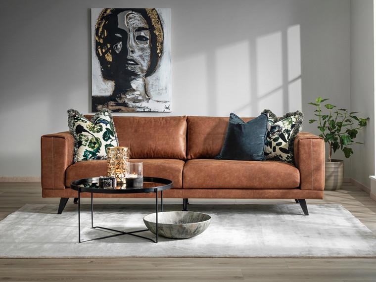 Praia 3 pers. sofa - Bull Cognac