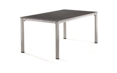Puroplan havebord - sølv og sort