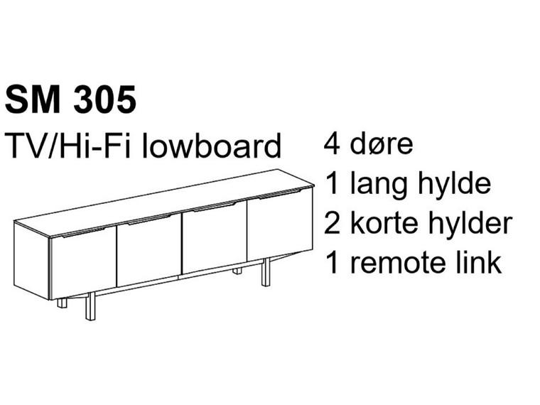 Skovby SM 305 TV/Hi-Fi lowboard