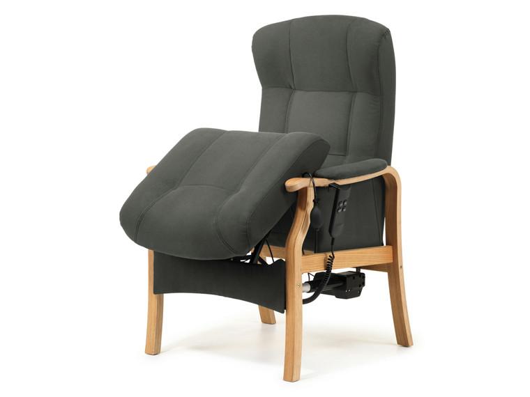 Sorø otium lænestol med sædeløft - læder