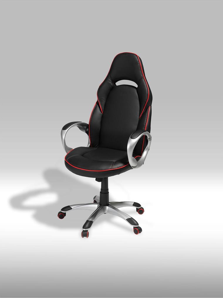 Speedy 1 sort/rød kontorstol