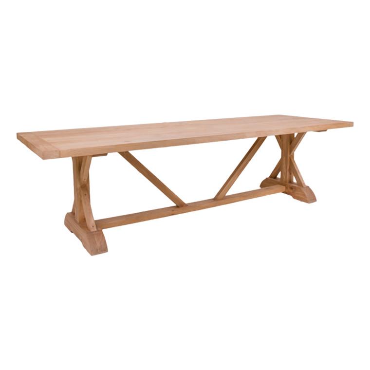 Malaga spisebord - fyrtræs plade - fyrtræ stel