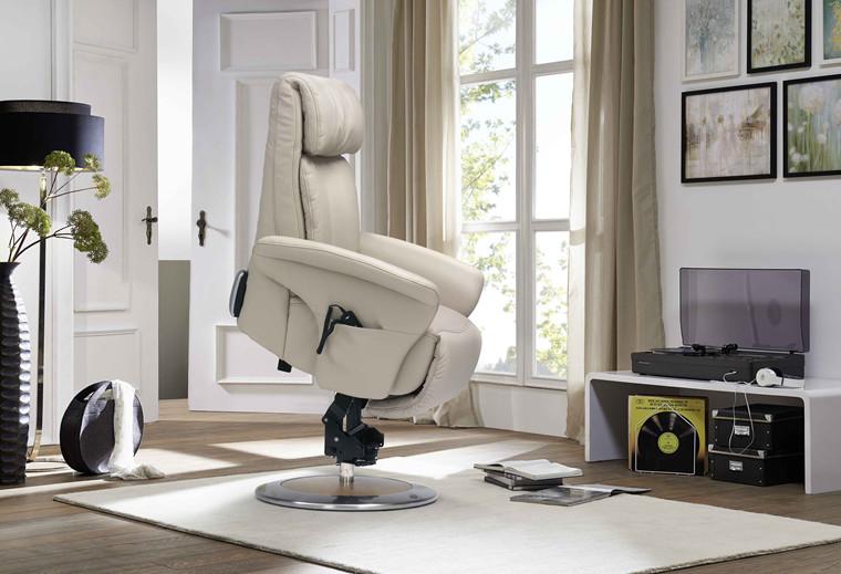 Himolla Easyswing Prestige lænestol med indbygget skammel og løftefunktion