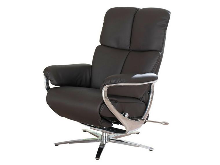 Zerostress Joop lænestol med indbygget skammel