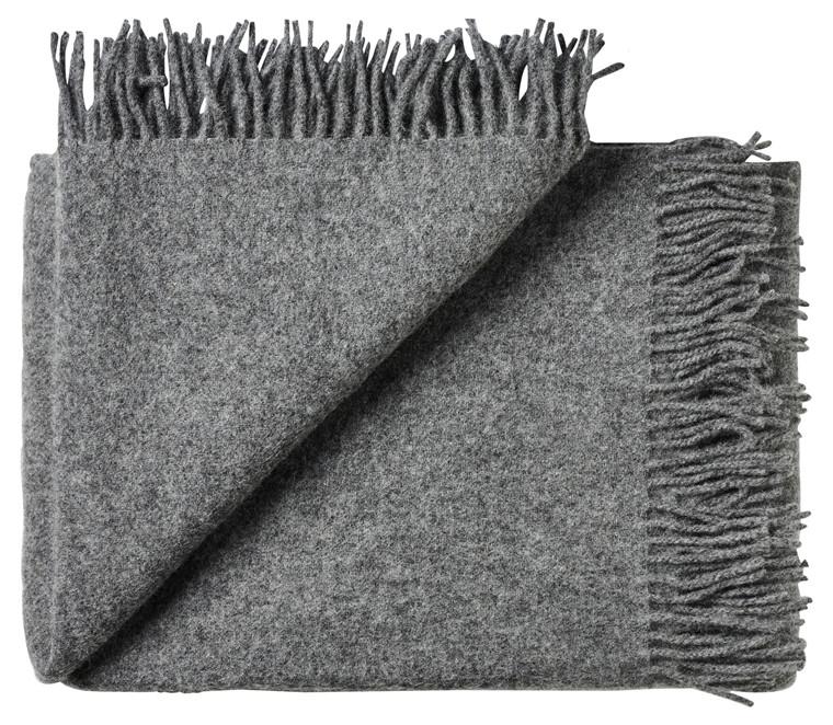 Troja uld plaid - mørk grå