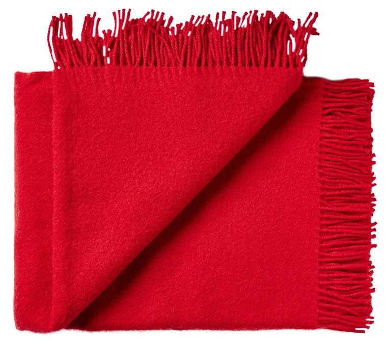 Troja uld plaid - Rød