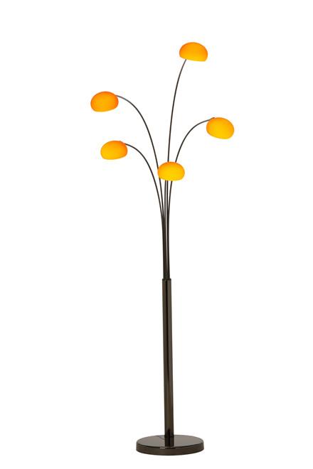 Lounge 5 gulvlampe sort krom