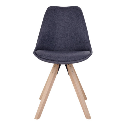 Bergen spisebordsstol - mørkegråt sæde - naturtræ stel