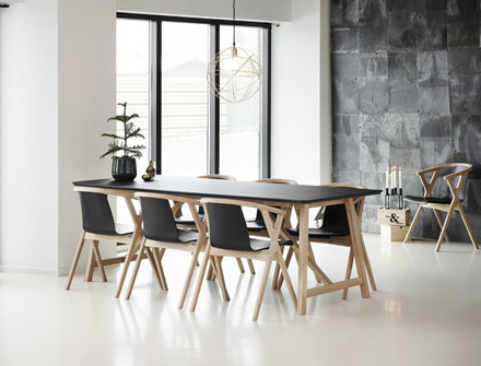 Casø Mr. X spisebordsstol - læder