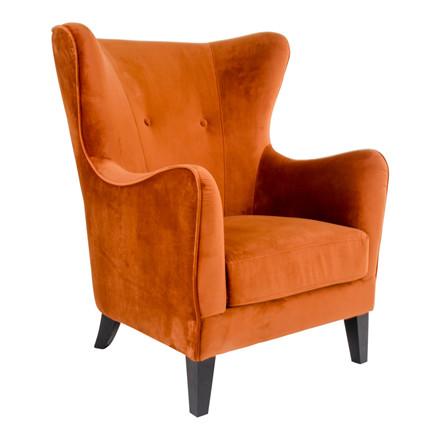 Campo lænestol - orange sæde - sort stel