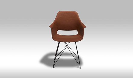 Elvis spisebordsstol - lysebrun