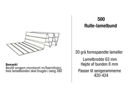 Kaagaard model 500 rulle-lamelbund