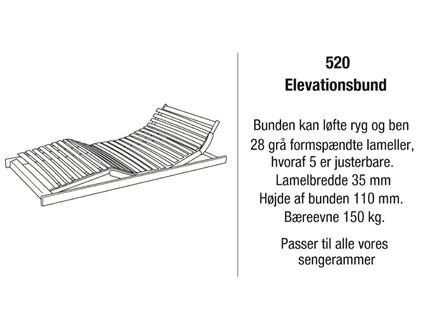 Kaagaard model 520 elevationsbund