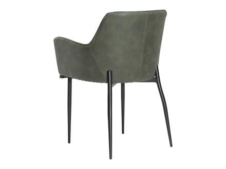 Rombo spisebordsstol - Grøn læderlook