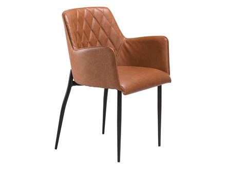 Rombo spisebordsstol - Lysebrun læderlook