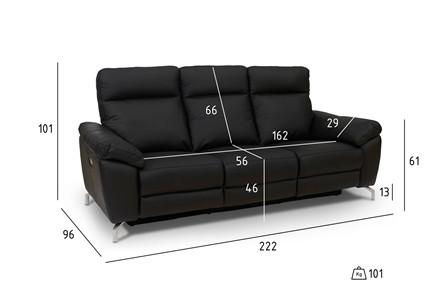 Selesta 3+2 pers. - sort læder