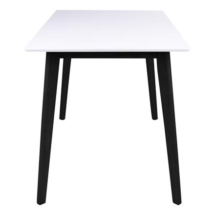 Vojens spisebord - hvid plade - sort stel