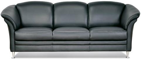 sofa læder 3 pers Aston sofa 3+2 pers sort læder, TILBUD køb online sofa læder 3 pers