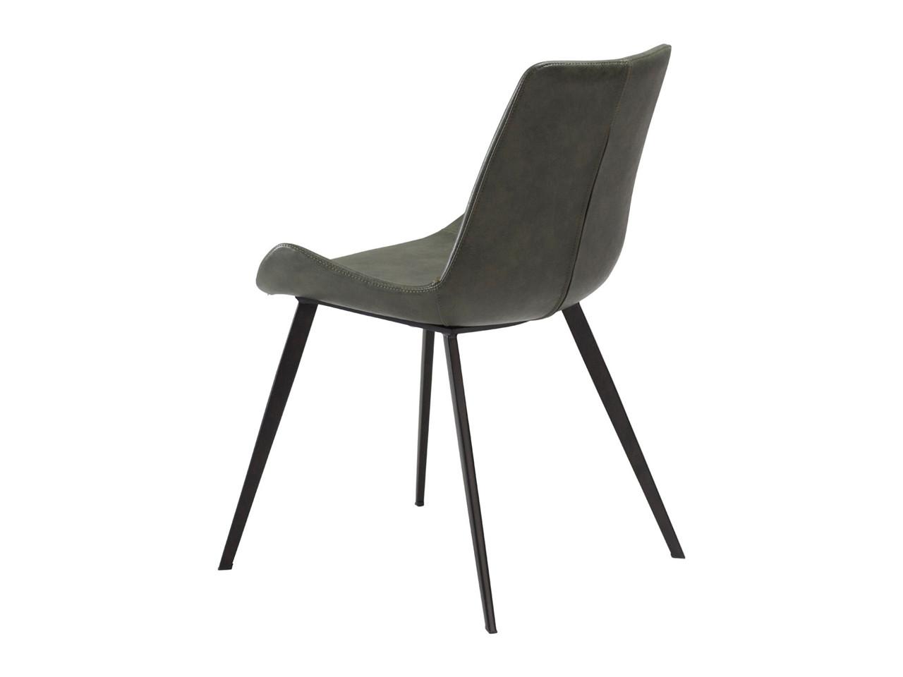 Hype spisebordsstol Grøn læderlook