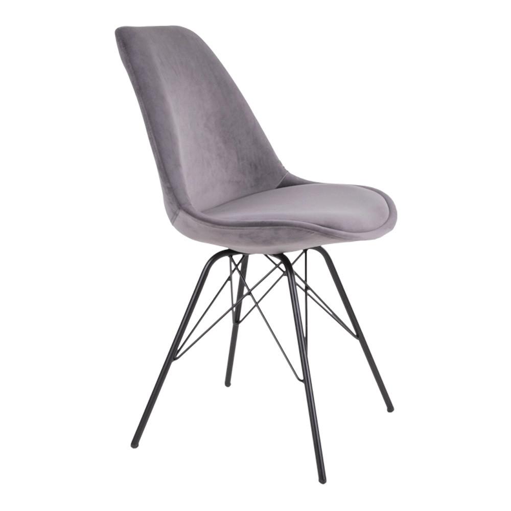 Oslo spisebordsstol velour sæde sort stel Nu på TILBUD bolighuset.dk