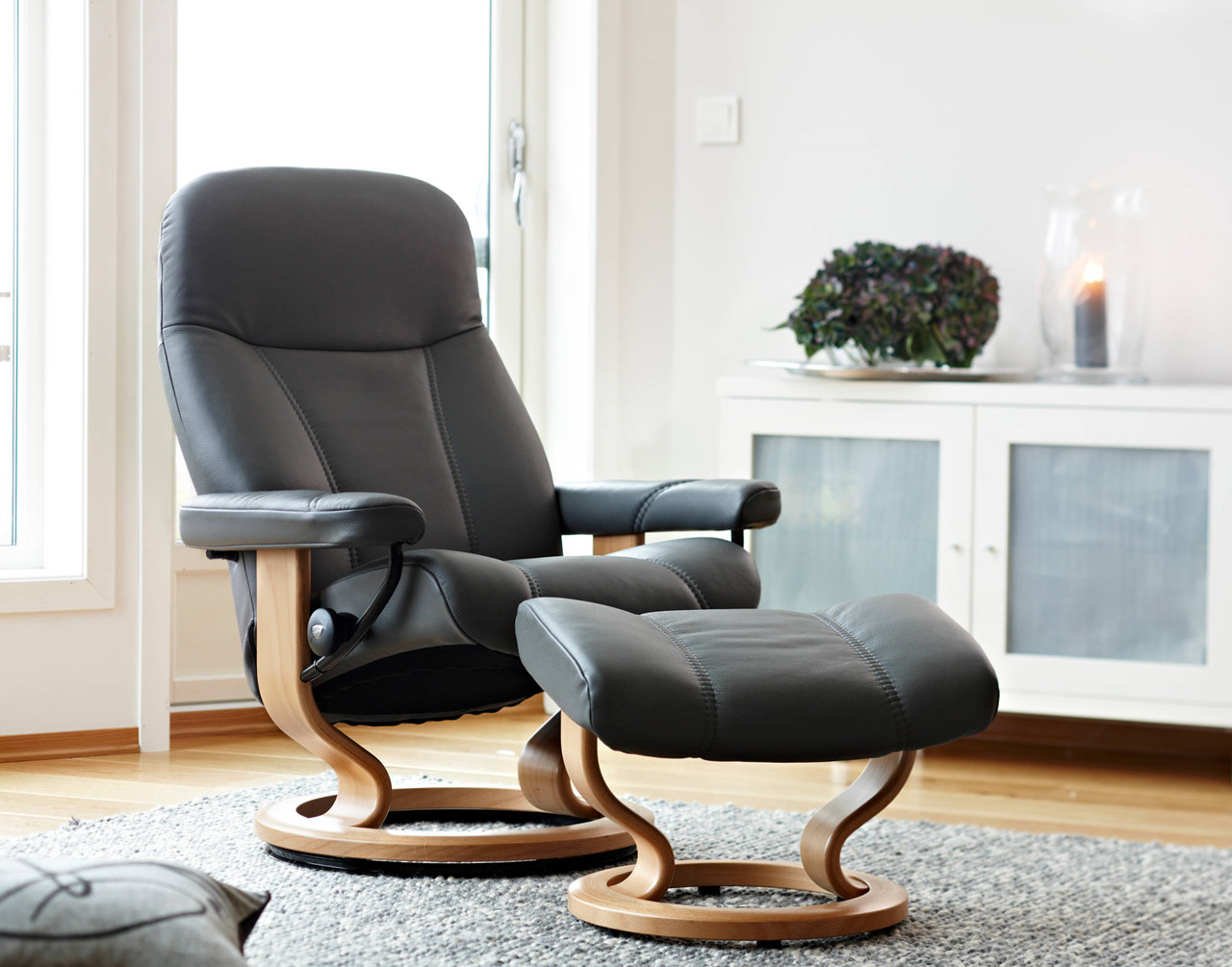lænestol læder stressless Stressless Garda Lænestol   Hurtig levering lænestol læder stressless