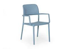 Bora havestol med armlæn - lyseblå