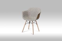 Flame spisebordsstol - grå/rød