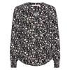 Rue De Femme New Rossa Shirt Flower Black