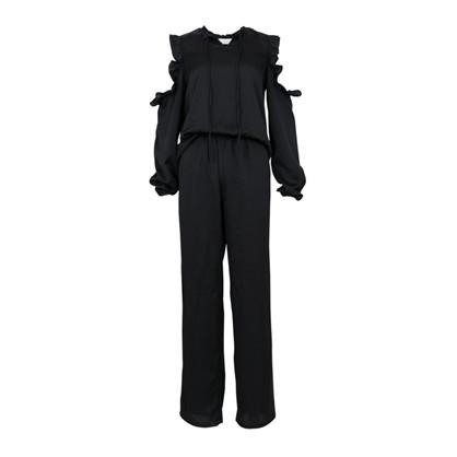 Neo Noir Black Moss Jumpsuit