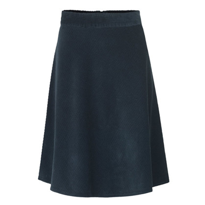 Mads Nørgaard Navy Spring Cord Caps Stelly Skirt