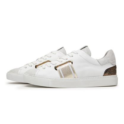 Via Vai Hvid Vitello Combi Oro Sneakers