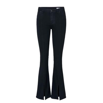2ND ONE Sort Uma Split Jeans