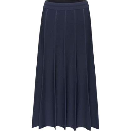Norr Navy Ellen Knit Skirt