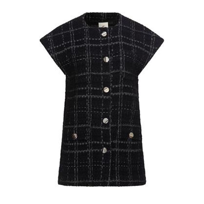Heartmade Dark Check Bine Vest