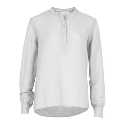 Neo Noir White Juliette Linen Shirt