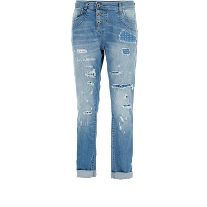 Please Patch Blue Denim Jeans