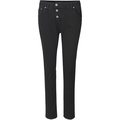 Please Nero Denim Tre Knaps Jeans