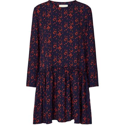 Lollys Laundry Navy/Rød Gill Dress