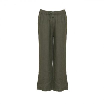 Tiffany Pants Linen Dark Army