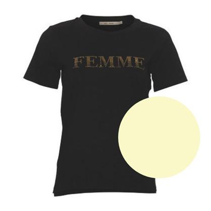 Rue De Femme Creme Farvet Glitter Tee