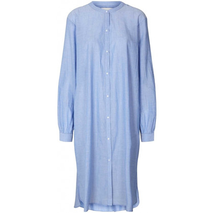 Lollys Laundry Basic Shirt Dress Dusty Blue
