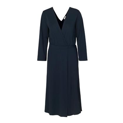 Blanche Navy Gather Dress