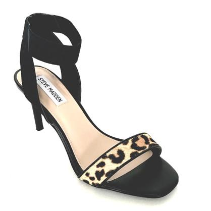 Steve Madden Sort Fondu Leopard Sandal