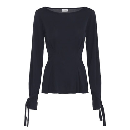 Blanche Navy Edie Blouse