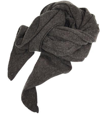 Mathlau Brun Lambswool Tørklæde