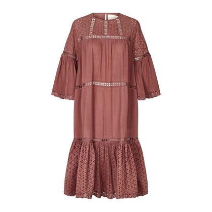 Lollys Laundry Cognac Dress Dusty Mauve