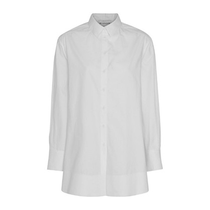 Blanche White Ella Raw Shirt