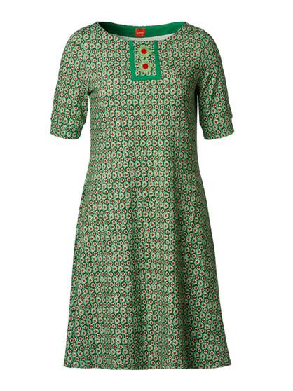 Du Milde Carolines Green Sleeve  Kjole