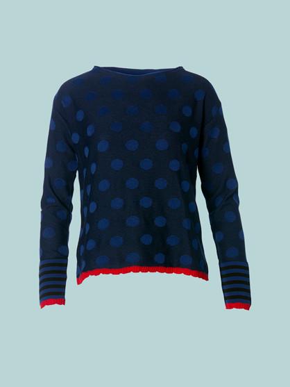 Du Milde Eva Dots Blue Bluse