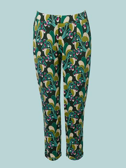 Du Milde Flower Power Green Sanna Bukser